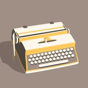 Vintage typewriter. Vector illustration. Isolated background Piirros