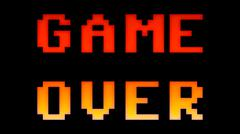 Game over 8bit retro - stock illustration
