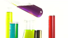 a test tube heated over a Bunsen burner - stock footage