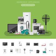 Electronics flat banner Stock Illustration