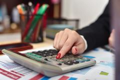 Accountant woman Stock Photos