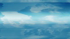 Clouds Lightning Loop Abstract signal Stock Footage