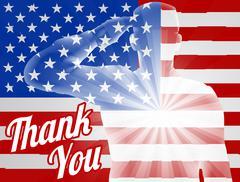 Veterans Day Thank You American Flag Stock Illustration