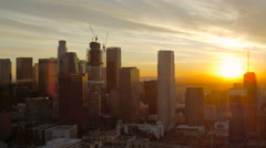Los Angeles Aerial over downtown Stock Footage