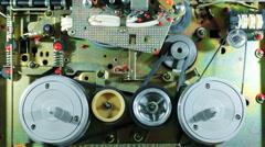 Mechanism Two-Speed Reel-To-Reel Tape Recorder-Prefix Stock Footage