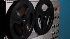Rewind Reel To Reel Tape Stock Footage