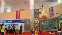 Shenzhen, China: summer housing trade fair - stock footage