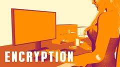 Encryption Concept Course - stock illustration