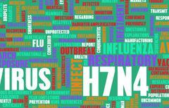 H7N4 - stock illustration