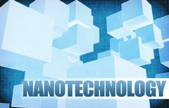 Nanotechnology on Futuristic Abstract Stock Illustration