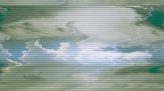 Clouds Lightning Loop  signal   Stock Footage
