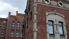 Lloyd Palace in Grodzka Street, Bydgoszcz, Poland - stock footage