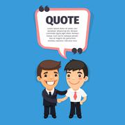 Quote Speech Banner with Trainee Stock Illustration