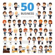 Business People Big Collection Stock Illustration