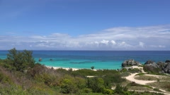 Bermuda beaches at South Shore National Park. Stock Footage