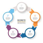 Circular arrows for infographics. Stock Illustration