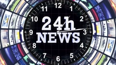 08 24h news tunnel zoom short 4k Stock Footage