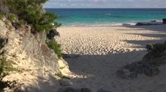 Bermuda sand beach at South Shore National Park. Stock Footage