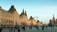 GUM of Moscow facing Red Square, Russia - stock footage