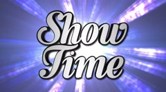 SHOW TIME  Animation Rotation Text and Disco Dance Background, with Alpha Channe Stock Footage