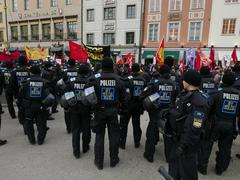 Protest Demonstration against (SiKo) MSC Nato Security Conference in Munich - stock photo