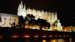 Cathedral of Santa Maria of Palma, Spain - stock footage