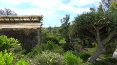 Greenhouse of Hamilton Botanical Gardens, Bermuda Stock Footage