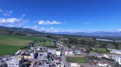 Flying Toward Cotapaxi Stock Footage