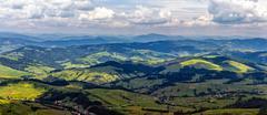 high mountain panorama view - stock photo