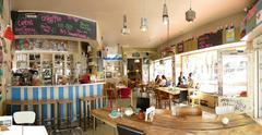Europe Germany Cologne Koln Koeln Organic Fair-Trade coffee shop - stock photo