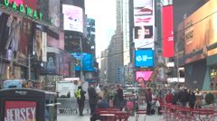 Times Square Daytime Stock Footage