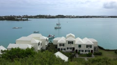 Harbour of the St. George's Town. Bermuda Stock Footage