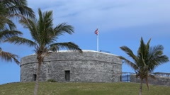 St. Catherine Fort. St. George's Island, Bermuda Stock Footage