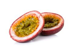 Passion fruit isolated on the white background - stock photo