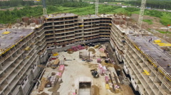 Aerial view of construction site Stock Footage