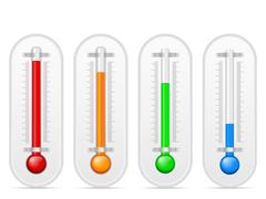 Thermometer set Stock Illustration