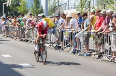 Utrecht,Netherlands - 04 July 2015: The Cyclist Adam Hansen - Tour de France - stock photo