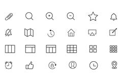 ios and Android Related Icons Collection - stock illustration