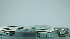 Playback And Rewind Reel To Reel Tape - stock footage