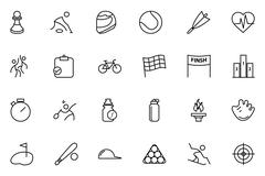 Sports Vector Line Icons Set Piirros