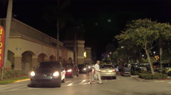 Walmart at night Stock Footage