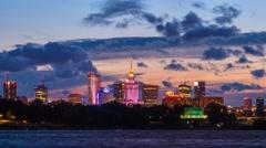 Warsaw City Panoramic Skyline Timelapse Warszawa Panorama Stock Footage