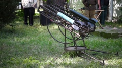 Rocket launchers of the Second World War Stock Footage