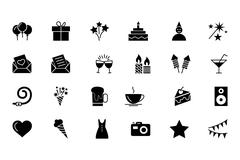 Party and Celebration Vector Icons Stock Illustration