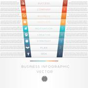 Template of business infographic numbered nine position Stock Illustration