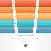 Colour strips infographic numbered five position Stock Illustration