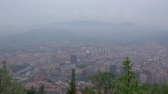 Wide view of Bilbao, Spain Stock Footage