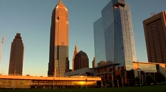 Huntington Convention Center of Cleveland and Downtown Buildings Stock Footage