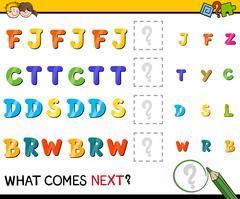 preschool pattern activity - stock illustration