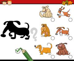 Shadows preschool activity task Stock Illustration